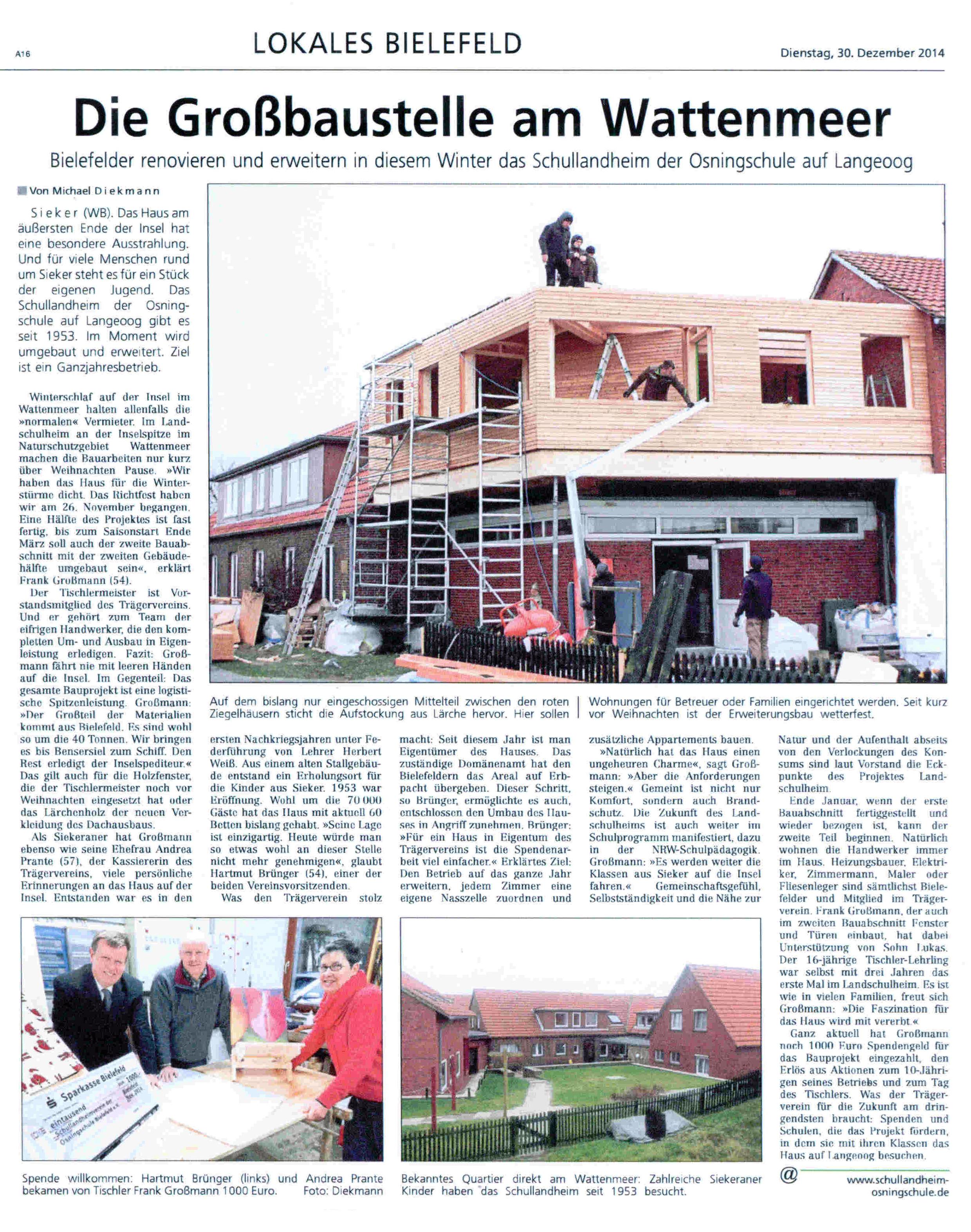 Pressebericht Westfalen-Blatt
