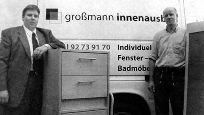 Andreas Hudalla und Tischlermeister Frank Großmann